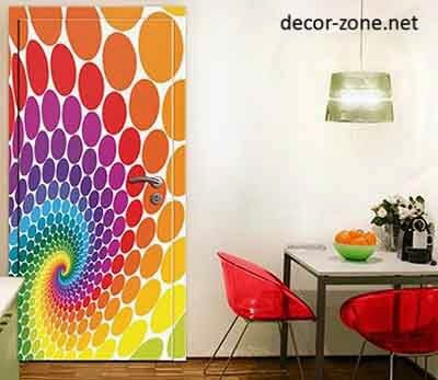 Rainbow Door Stickers, Door Decorating Ideas