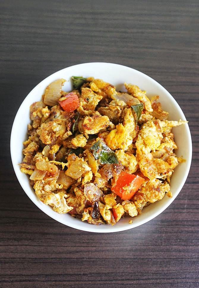 andhra egg bhurji recipe