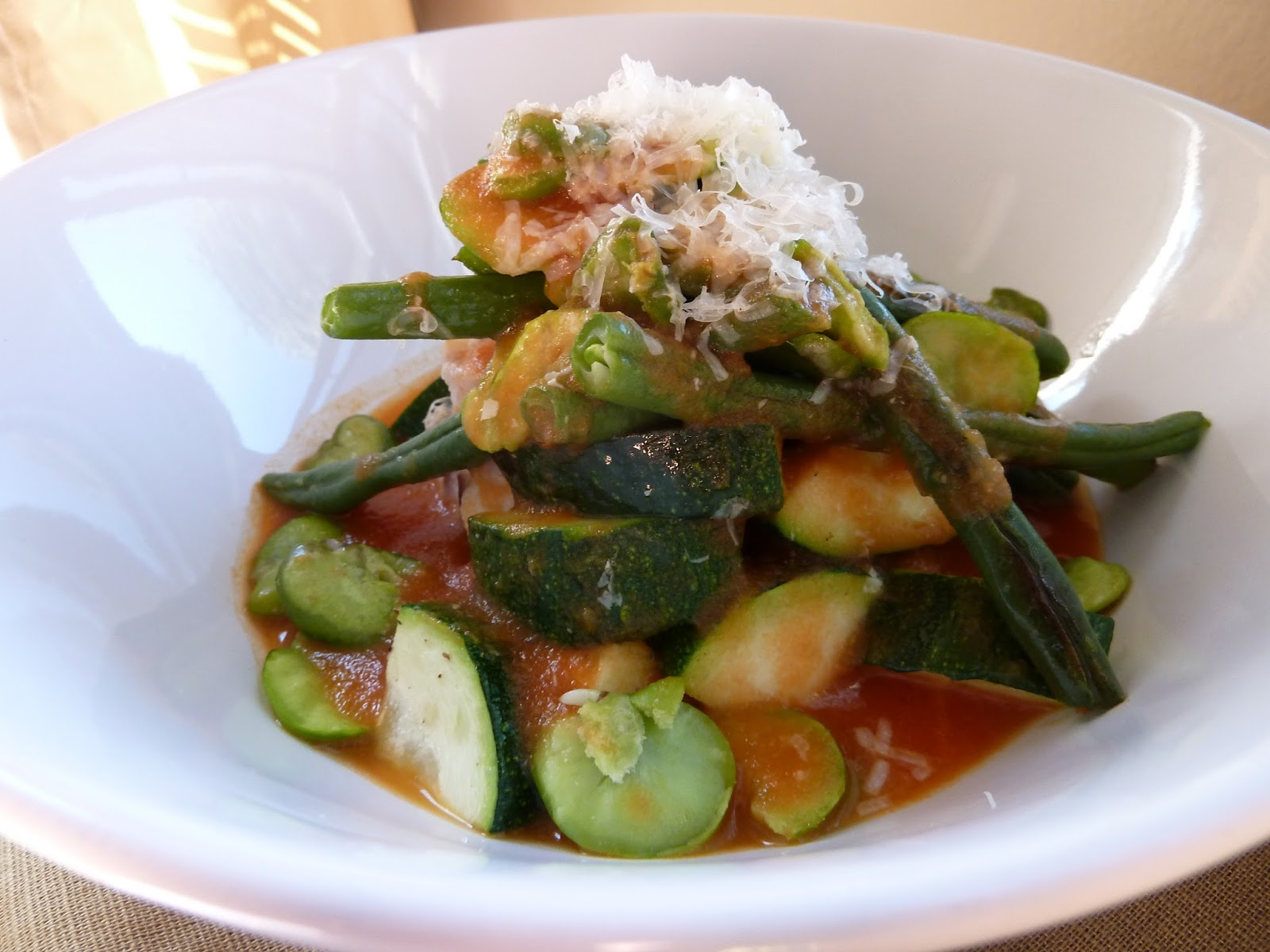 Cod with White Beans and Zucchini