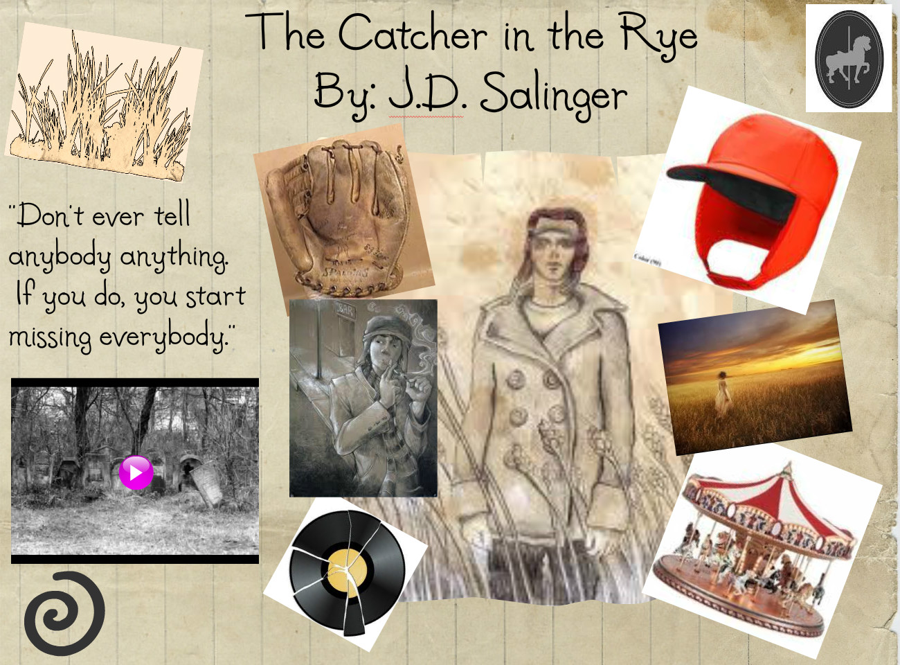 research paper on the catcher in the rye Jd salinger wrote the catcher in the rye in 1951 the story is about an adolescent boy who has many problems, especially fear of change and growing up.