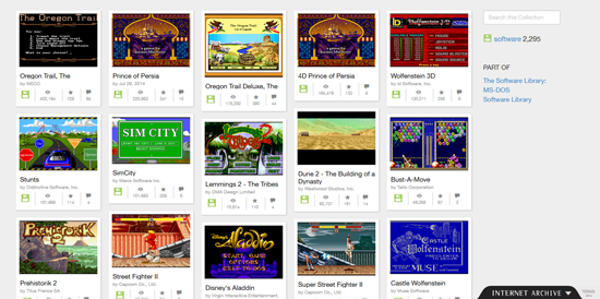 free games on internet archive