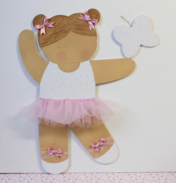 silueta-infantil-decoracion-infantil-pintada-mano-bailarina-ballet