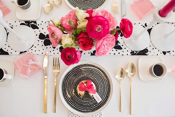 Fiesta de chicas en rosa - mesa personalizada