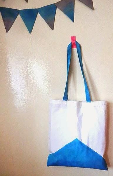 DIY : Tote bag bicolore (teinture à froid)