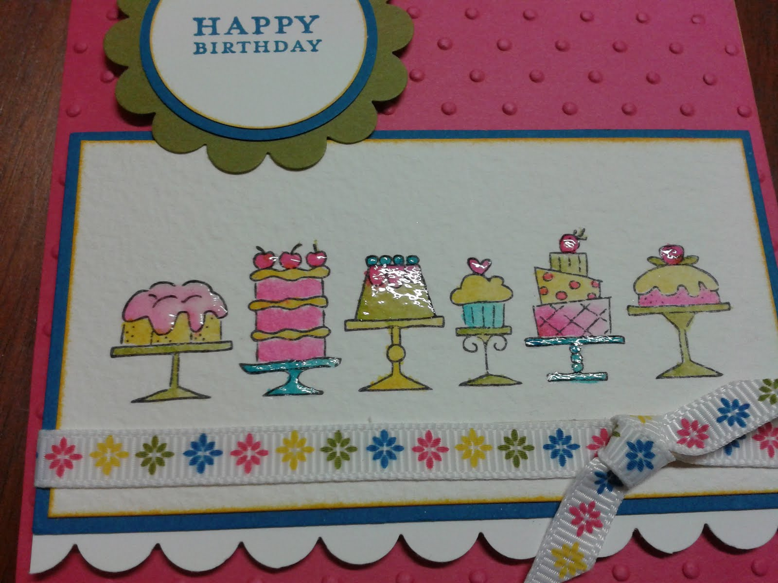 Stampin it up with Belinda Kids Birthday Cards & Cakes