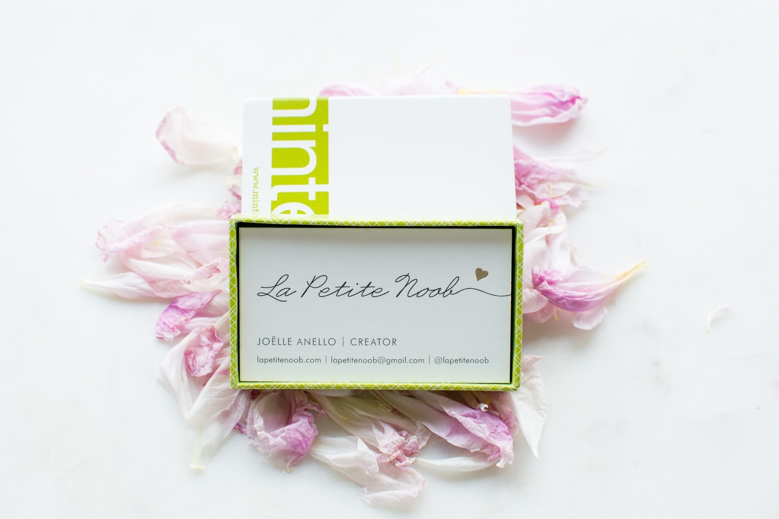Blog Tips - My Blogging Business Cards from Minted | La Petite ...