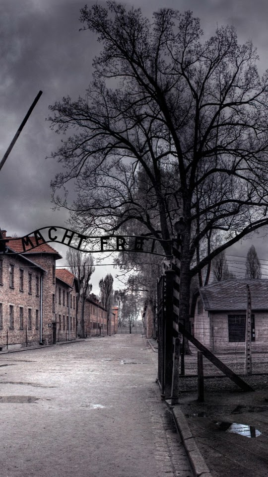 Auschwitz Concentration Camp Arbeit Macht Frei  Galaxy Note HD Wallpaper