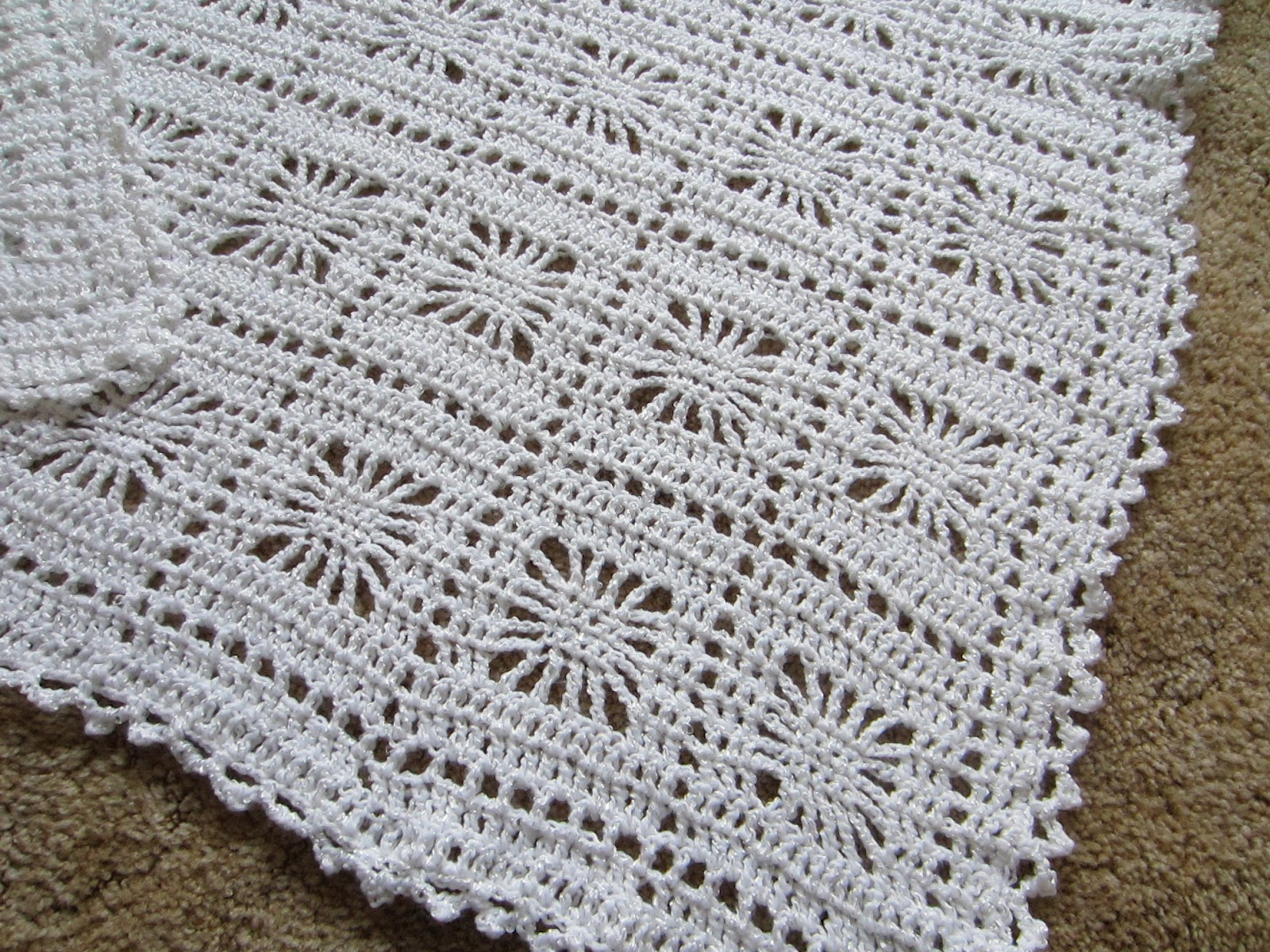 Crocheting Easy Baby Blanket : Simple Homecraft: Lacy Baby Blanket - Crochet