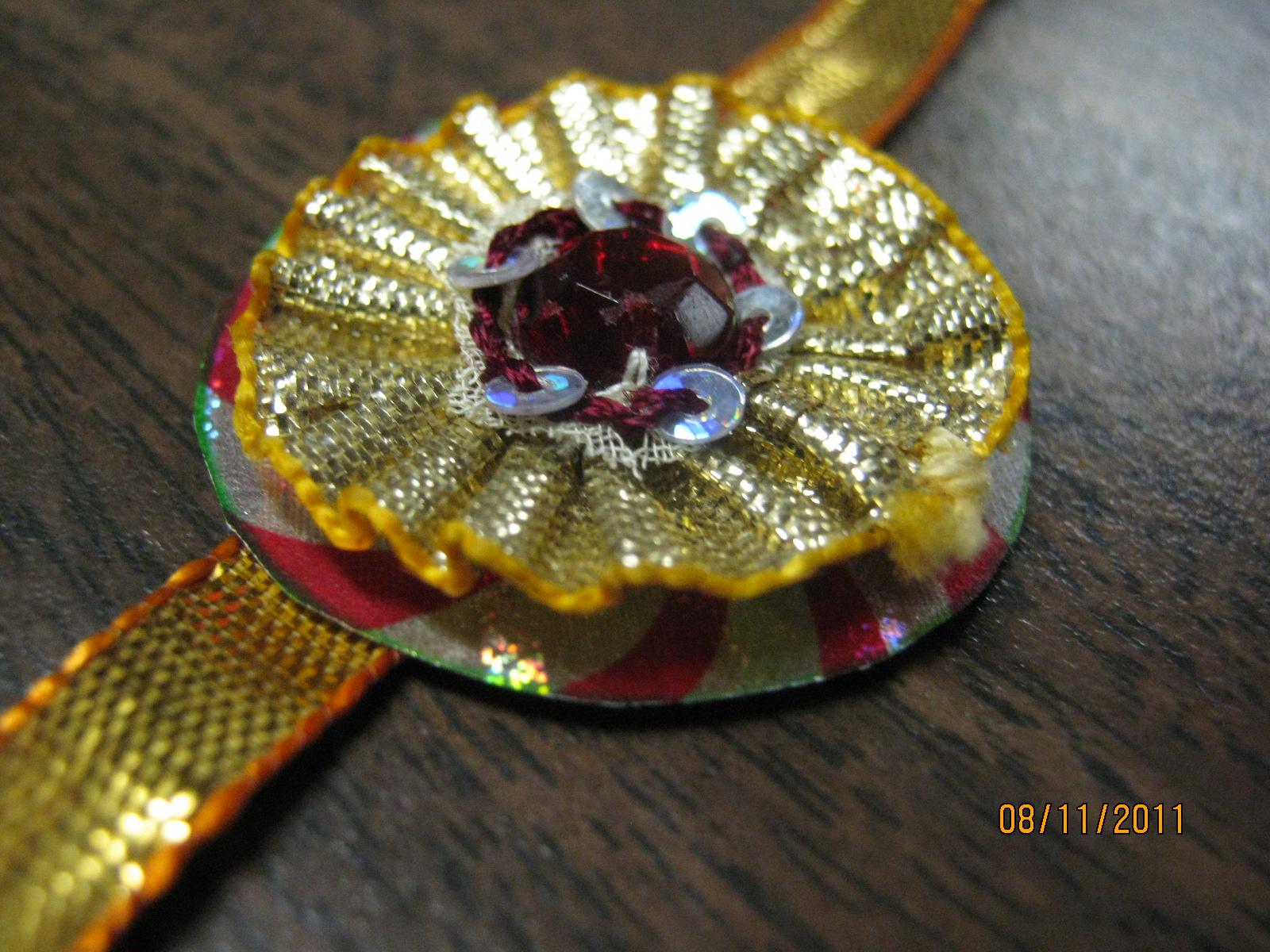 how to make rakhi at home in hindi