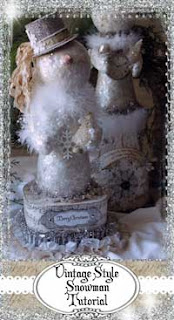 Learn how to make your own Vintage Style Snowman!