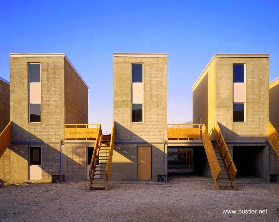 Casas del proyecto Elemental Chile