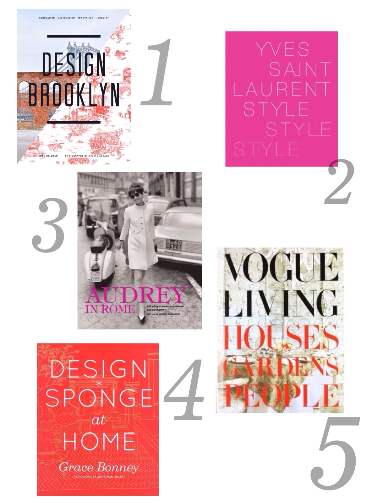 avery street design blog: 20 pretty coffee table books