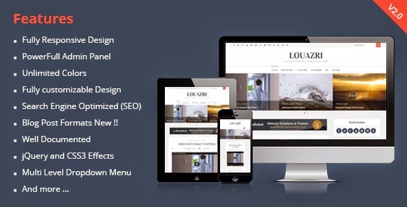 Louazri - An Elegant Responsive Blogging Theme
