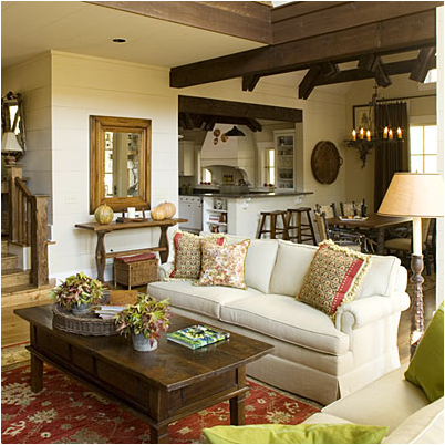 Cottage living room design ideas room design inspirations for Cottage style family room