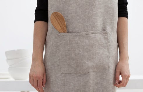 handmade linen cross-over apron