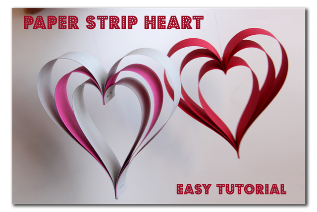 Paper Strip Hearts [DIY Valentine Decorations]