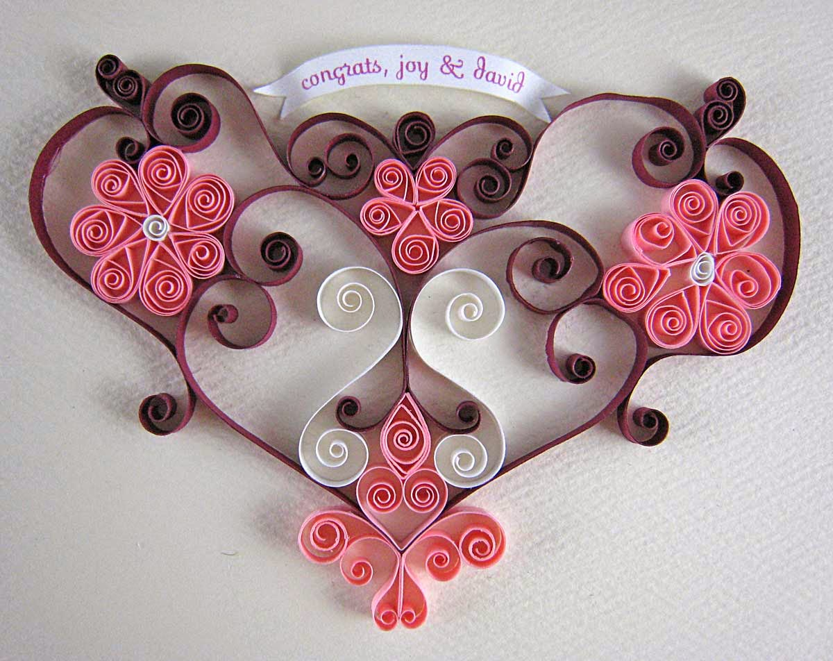 gift card from paper quilling art projects art ideas