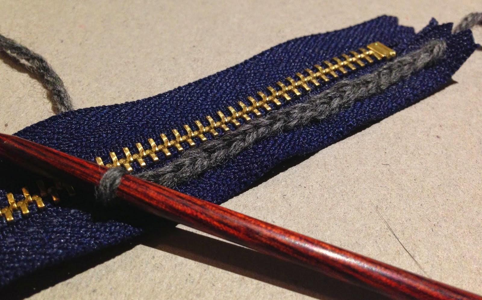 Как вшить молнии в вязании 180