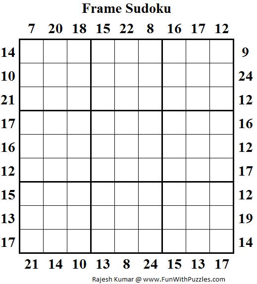Frame Sudoku (Daily Sudoku League #129)