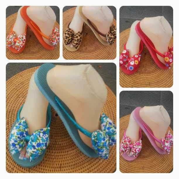 Sandal Jepit Pita Bali Motif Bunga
