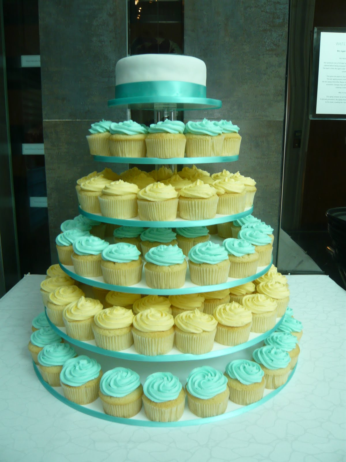 Blue And Green Wedding Cupcakes
