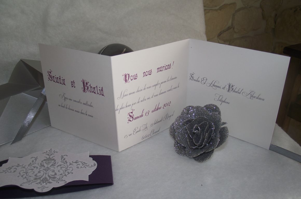 Zeste d 39 amour faire part origami - Carte aurore partenaire ...
