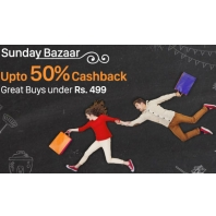 Paytm Sunday Bazaar Offer :All Products under Rs. 499 : BuyToEarn
