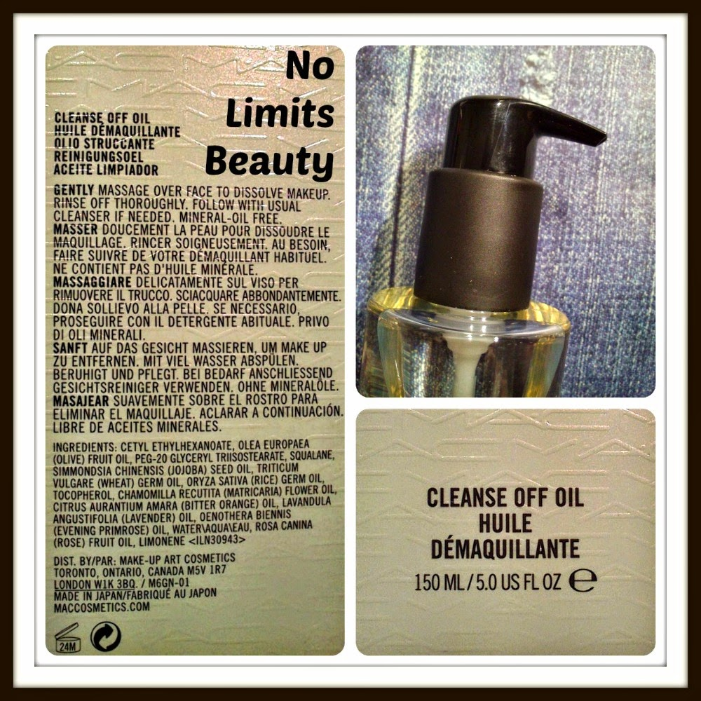 MAC - Cleanse Off Oil (ingredientes)