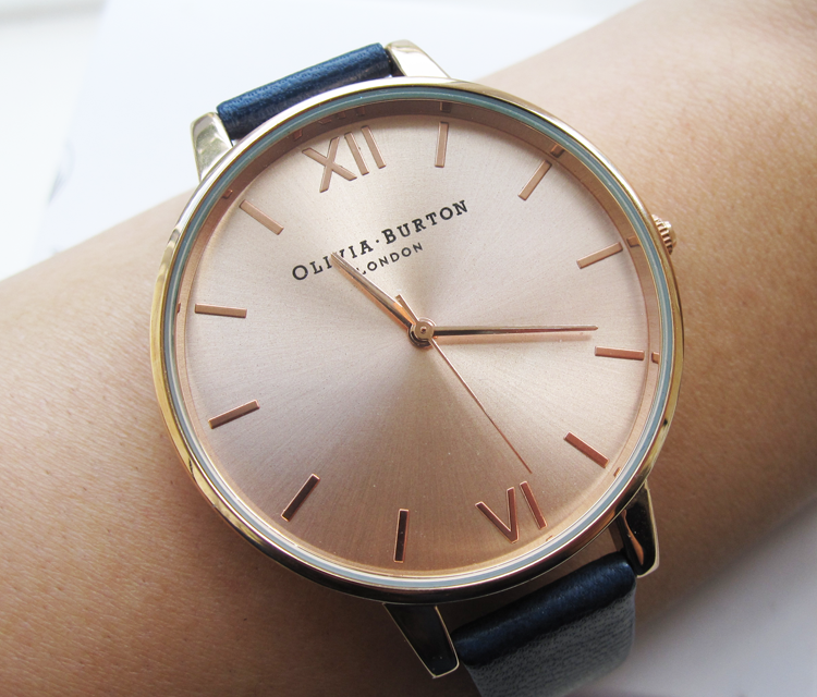 A picture of Olivia Burton Big Dial Rose Gold Watch