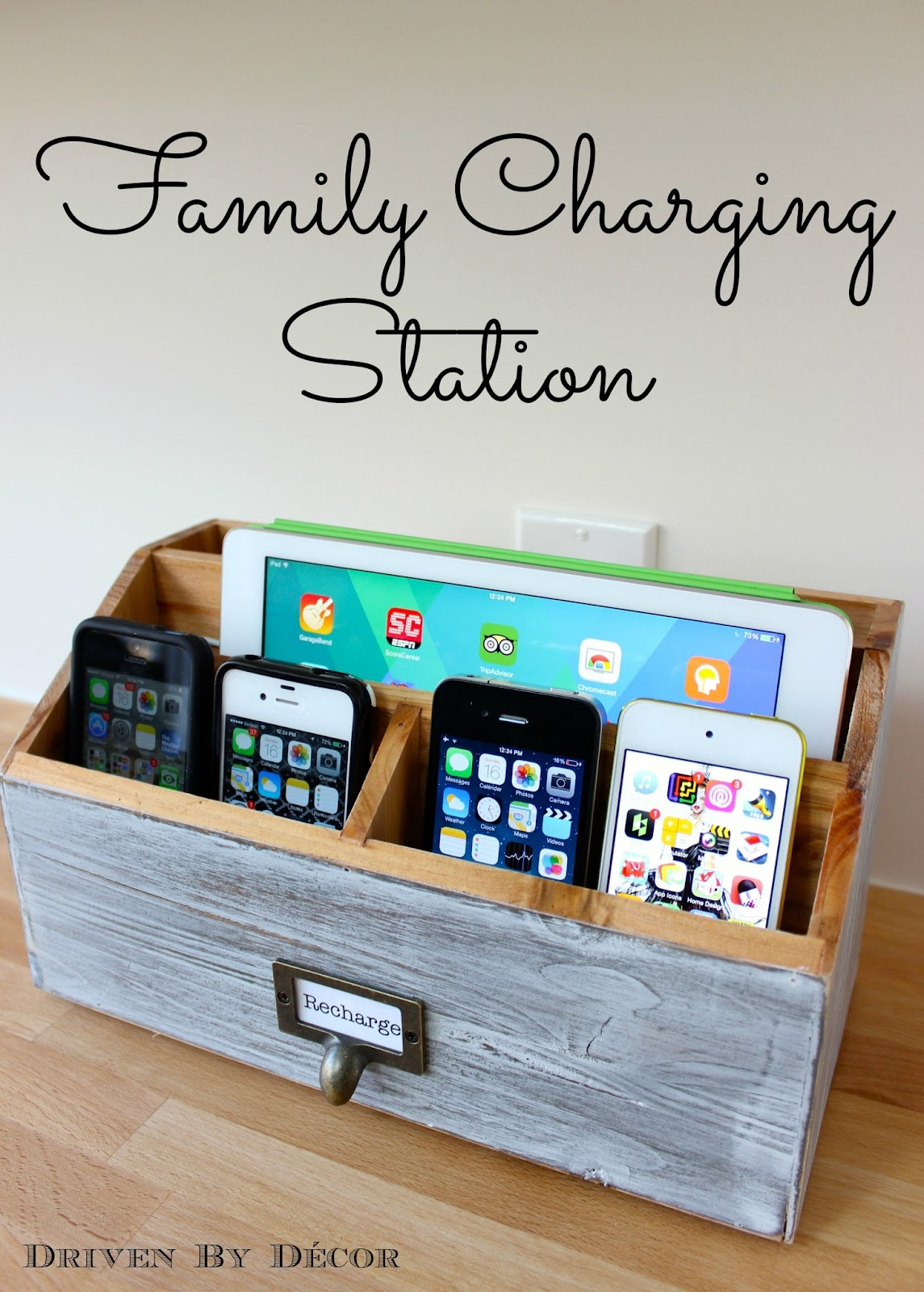 family charging station driven by decor