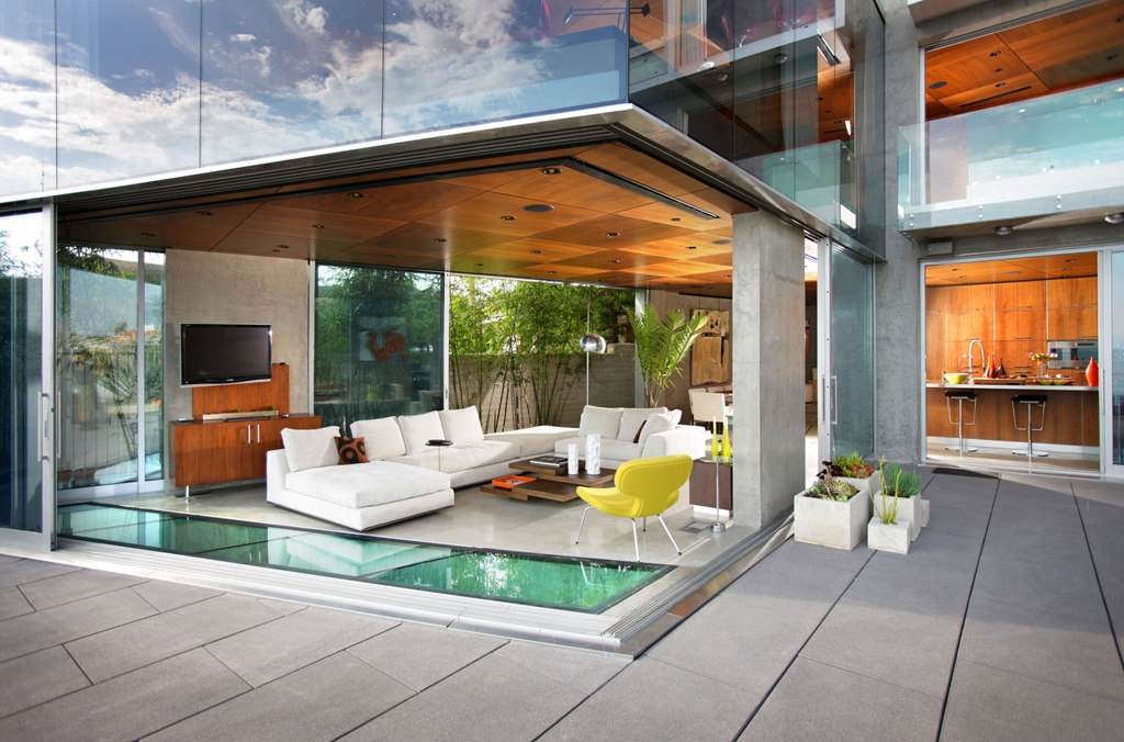 World Of Architecture Cliff House Lemperle Residence By Jonathan - The living room la jolla