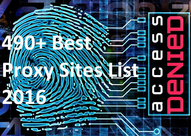 490 plus free web based proxies list