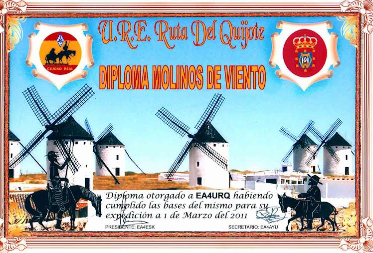 DIPLOMA MOLINOS DE VIENTO DE ESPAÑA
