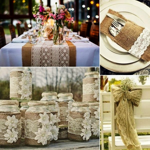 Burlap And Lace Wedding Decorations Art Projects Art Ideas