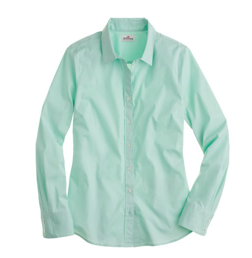 Equipment Signature Blouse Mint 64