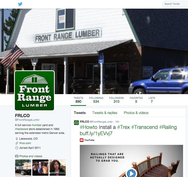 Front Range Lumber on Twitter
