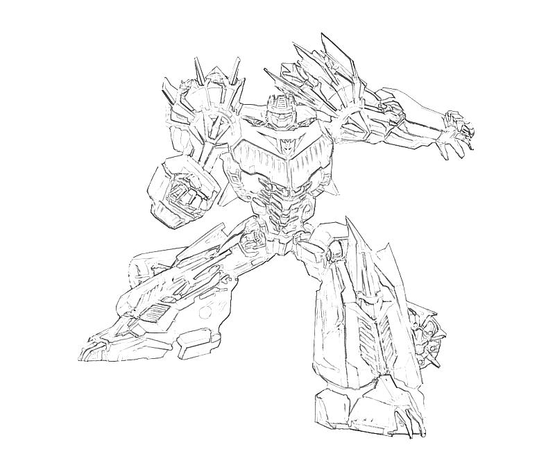 Transformers Cybertron Free Coloring