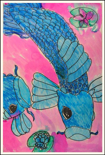 Marymaking colorful koi fish for Koi fish colors