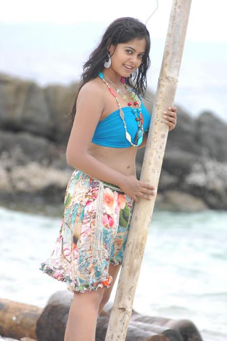 bindu madhavi in spicy beach song hot photoshoot
