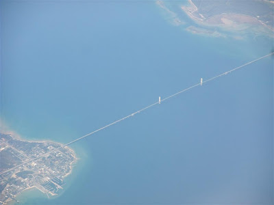 aerial photo, the mackinac bridge