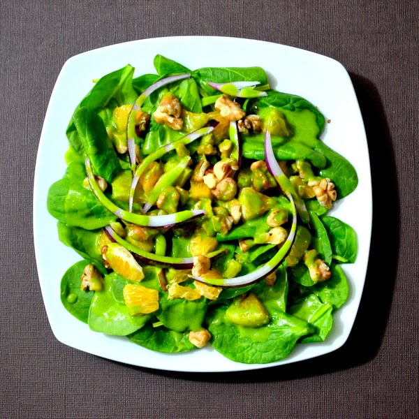 Happily Spiced: Spinach Salad with Chili-Lime-Maple ...