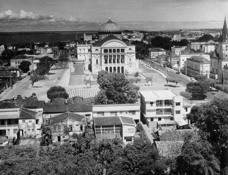The Opera House of Manaus with the Rio Negro in the Background