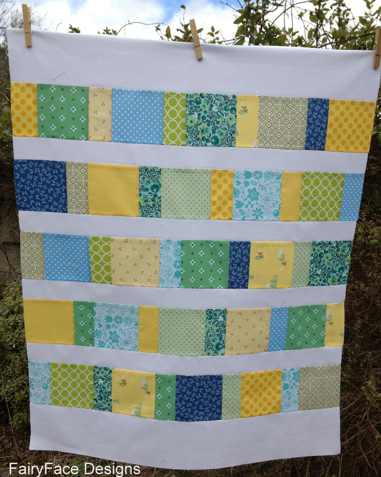 Baby Quilt Patterns For Boy : FairyFace Designs: Baby boy quilt finish