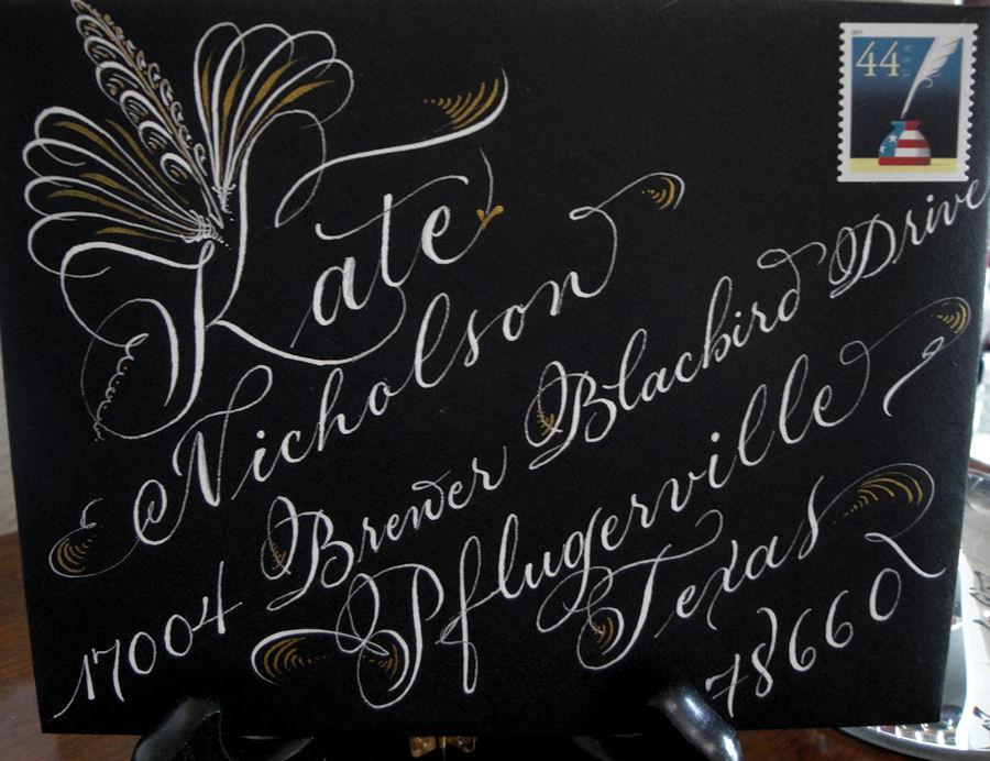 Trish taylor calligraphy: 2011 09 04