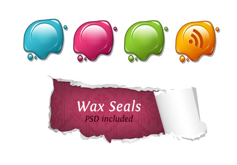 wax seals 100+ Amazing Free RSS Feed Icons Set Download