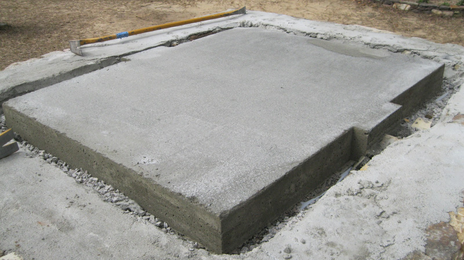 Structural Concrete Slabs : Wood oven update… structural slab