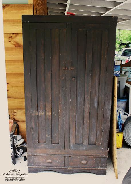 antique wardrobe armoire thrift store