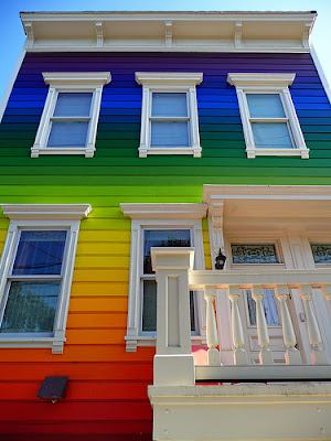 image rainbow house by PJ Taylor Photo