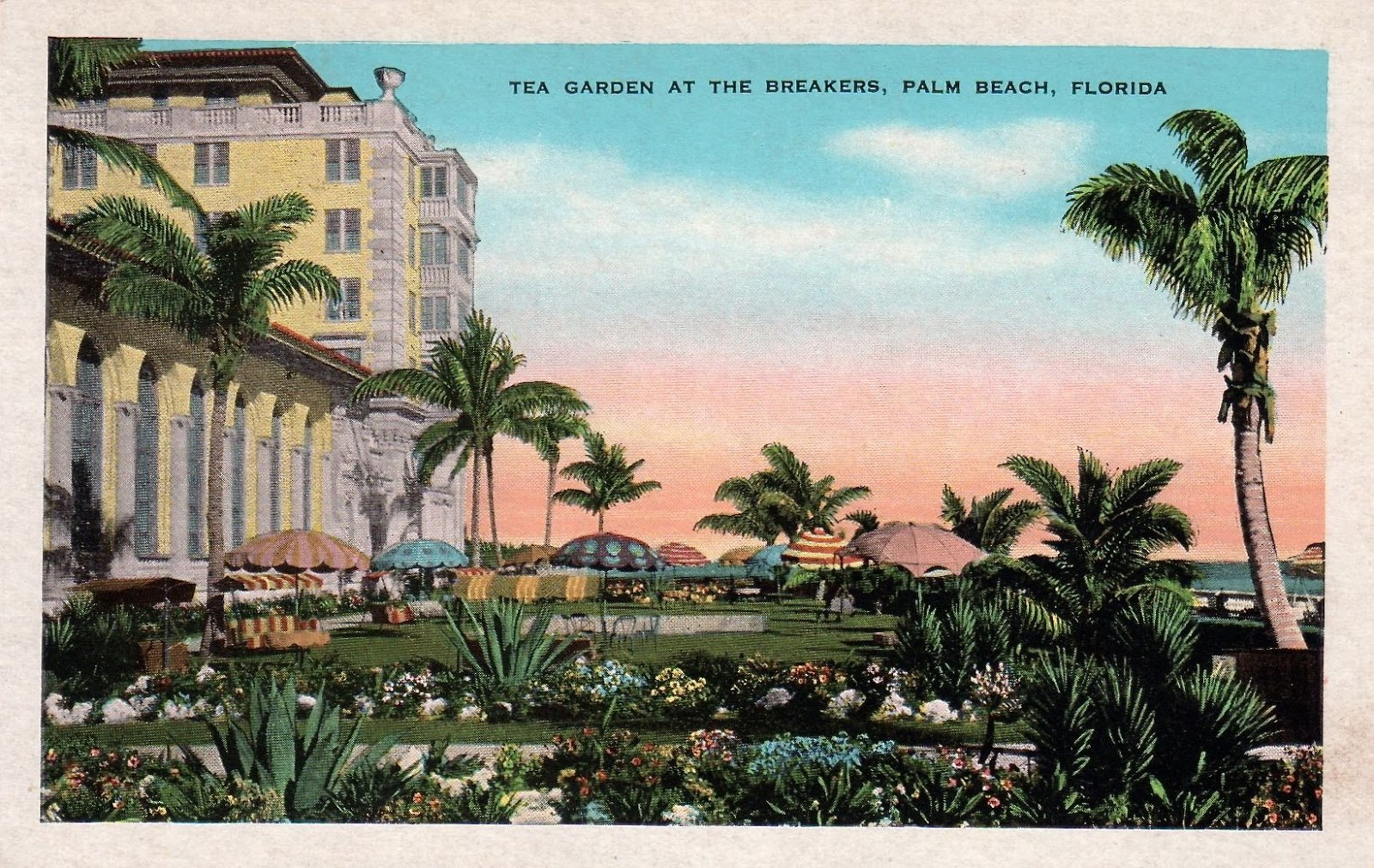 Tea with friends vintage postcards of tea houses gardens Home goods palm beach gardens