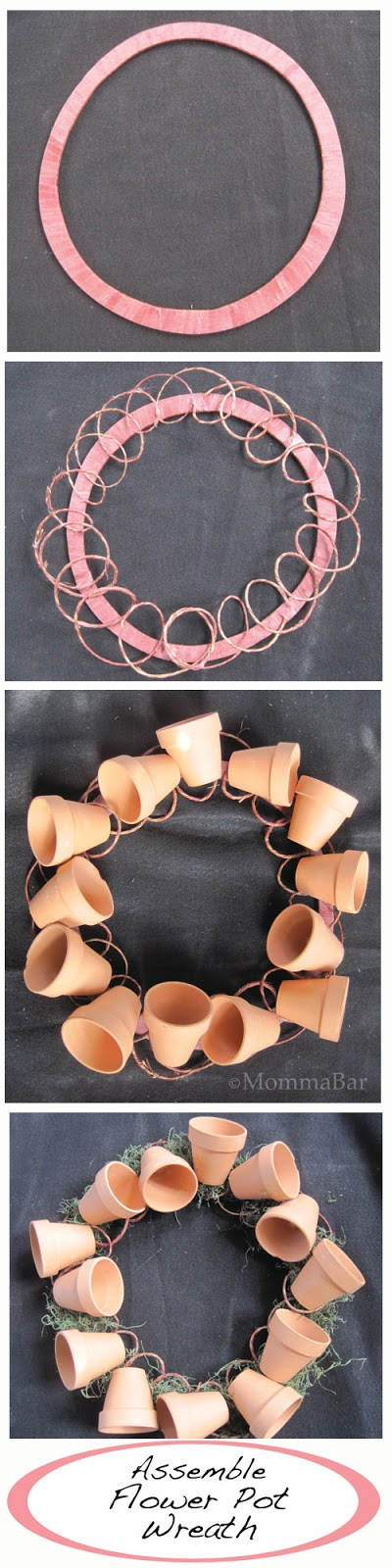 Assemble Flower Pot Wreath | Featured on Tried & Twisted